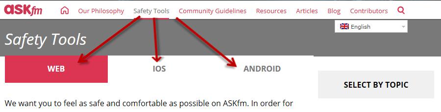 Prikaz pomoči Ask.fm