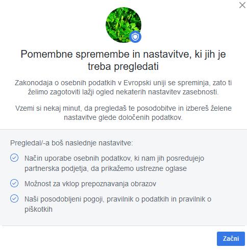 Facebook spremembe