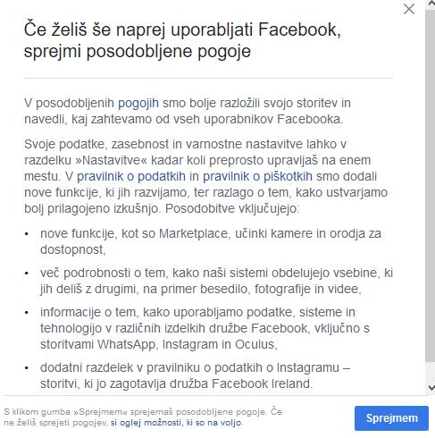 FB pogoji uporabe