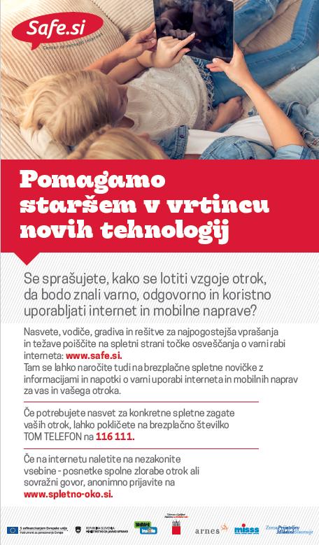 Pomagajmo staršem v vrtincu tehnologij - 1. stran