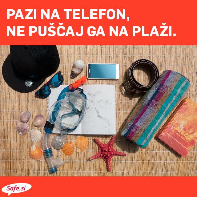 Pazi na telefon na plaži