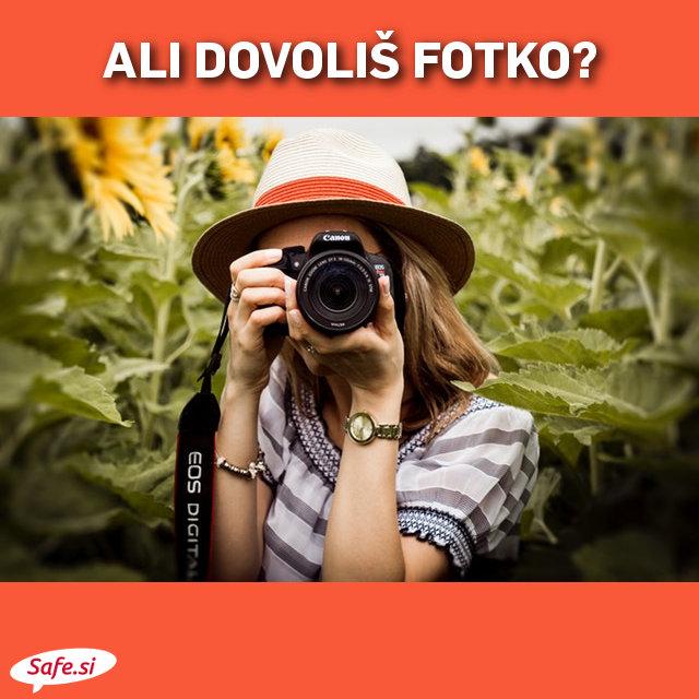 Preden fotografiraš, vprašaj za dovoljenje