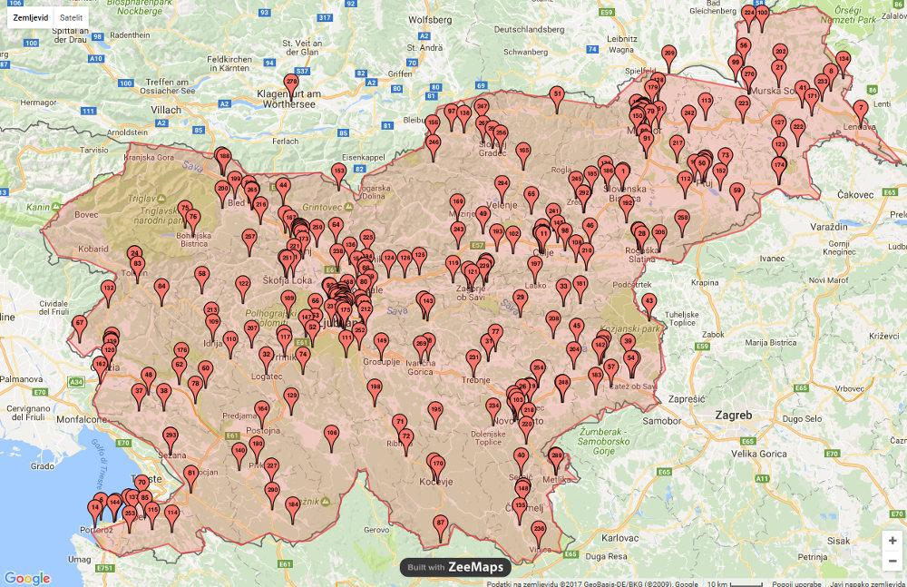 Dan varne rabe interneta 2014 - pregled sodelujočih šol v Sloveniji