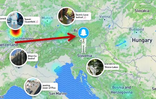 Snap map skrivanje lokacije
