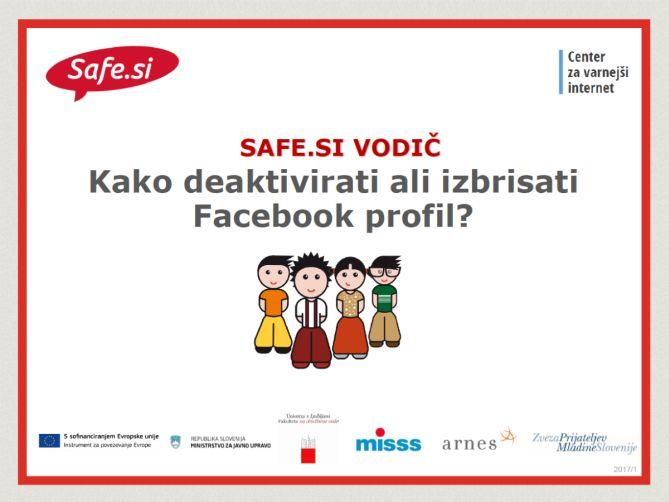 Safe si vodič: Kako izbrisati Facebook profil? | safe si