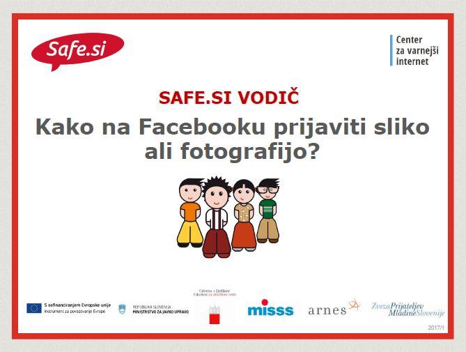 SAFE.SI VODIČ: Prijava slike na FB