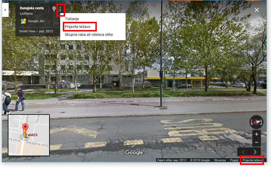 Kako zabrisati obraz na Google pogled ulice