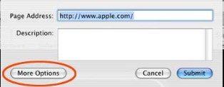 Slika 2: Vpis url-ja strani, ki jo prijavljate