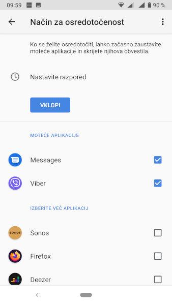 Navodila za nastavitev digitalne dobrobiti v Androidu