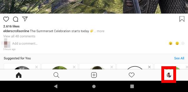 Navodila za nastavitev zasebnosti na Instagramu