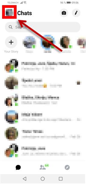 Messenger - nastavitve zasebnosti