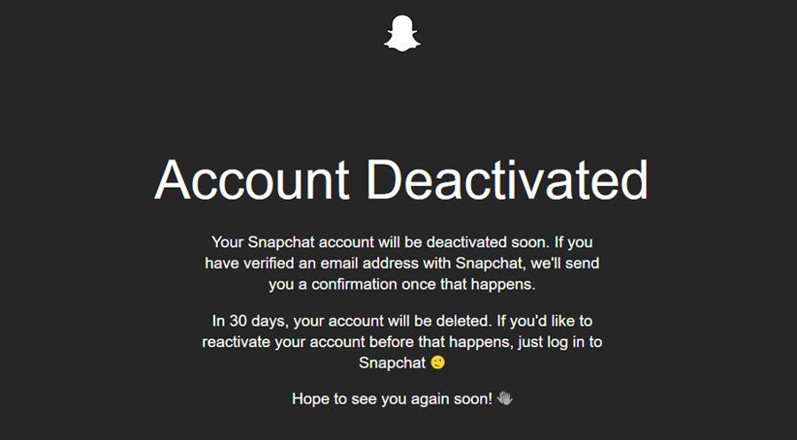 Snapchat - izbris računa