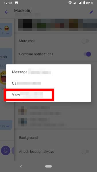 Blokiranje uporabnika na Viber skupinskem pogovoru