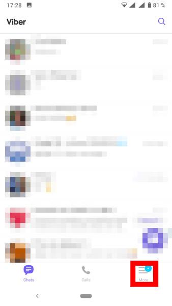 Viber navodila za pregled blokiranih uporabnikov