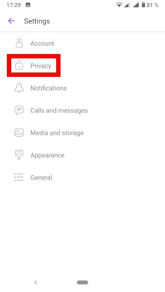 Pregled blokiranih uporabnikov na Viber - navodila